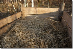 Compost after filling