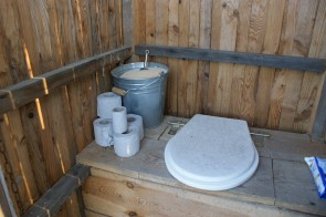 Inside outside toilet