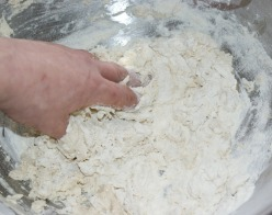 Add the water and yeast mix and bring it all together