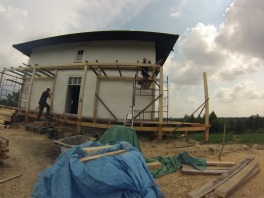 The start of the terrace roof