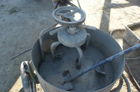 Our handy new mixer, which enabled us to finish on time.